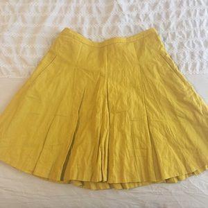 J.crew mustard cotton circle skirt size 2